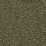 Miyuki Rocailles Beads 1,5mm 2032 metallic matte Olive Gold ca 11gr