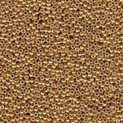 Miyuki Rocailles Beads 3mm 4202 Duracoat galvanized Gold ca 22gr