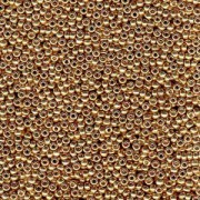 Miyuki Rocailles Beads 3mm 4204 Duracoat galvanized Champagne ca 22gr
