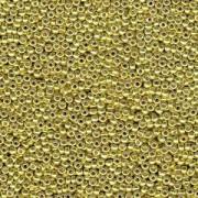 Miyuki Rocailles Beads 3mm 4205 Duracoat galvanized Zest ca 22gr