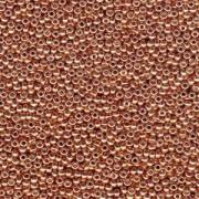 Miyuki Rocailles Beads 3mm 4206 Duracoat galvanized Muscat ca 22gr