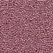 Miyuki Rocailles Beads 3mm 4209 Duracoat galvanized dark Coral ca 22gr