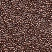 Miyuki Rocailles Beads 3mm 4213 Duracoat galvanized Dark Mauve ca 22gr