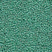Miyuki Rocailles Beads 3mm 4214 Duracoat galvanized Dark Mint Green ca 22gr