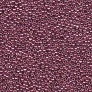 Miyuki Rocailles Beads 3mm 4218 Duracoat galvanized Dusty Orchid ca 22gr