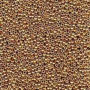 Miyuki Rocailles Beads 2mm 4204 Duracoat galvanized Champagne ca 23,5gr