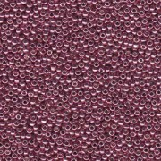 Miyuki Rocailles Beads 2mm 4218 Duracoat galvanized Dusty Orchid ca 23,5gr