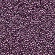 Miyuki Rocailles Beads 2mm 4220 Duracoat galvanized Eggplant ca 23,5gr