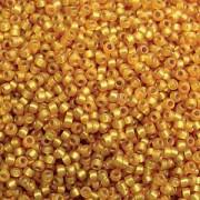 Miyuki Rocailles Beads 3mm 4231 Duracoat silverlined Maize ca 22gr