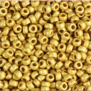 Miyuki Rocailles Beads 1,5mm 4202F frosted Duracoat galvanized Gold ca 11 Gr.