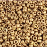 Miyuki Rocailles Beads 2mm 4204F frosted Duracoat galvanized Champagner ca 23,5gr