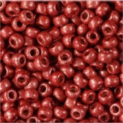 Miyuki Rocailles Beads 2mm 4208F frosted Duracoat galvanized Berry ca 23,5gr