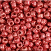 Miyuki Rocailles Beads 2mm 4211F frosted Duracoat galvanized Blight Cranberry ca 23,5gr