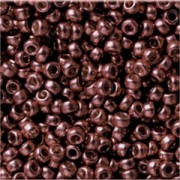Miyuki Rocailles Beads 3mm 4213F frosted Duracoat galvanized Dark Mauve ca 22gr