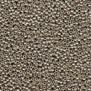 Miyuki Rocailles Beads 1,5mm 4221 Duracoat galvanized Smokey Pewter ca 11gr