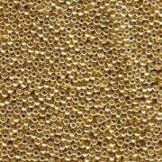 Miyuki Rocailles Beads 2,2mm 1053 oder 9660-124 galvanized Gold ca 10gr