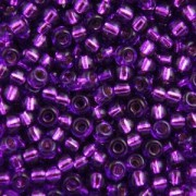 Miyuki Rocailles Beads 2,2mm 1345 oder 9660-864 silverlined Lilac ca 10gr