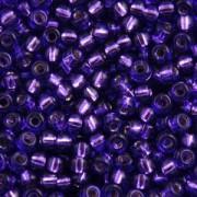 Miyuki Rocailles Beads 2,2mm 1347 oder 9660-874 silverlined dark Lilac ca 10gr