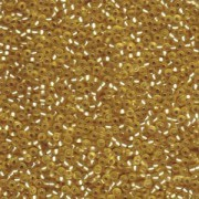 Miyuki Rocailles Beads 2,2mm 1902 oder 9660-104 silverlined semimatt Gold ca 10gr