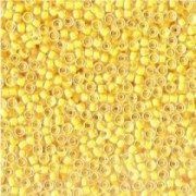 Miyuki Rocailles Beads 2,2mm 0202 oder 9660-094 inside  colorlined golden Yellow ca 10gr