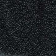 Miyuki Rocailles Beads 2,2mm 0401F oder 9660-834 opaque matt Black ca 10gr