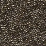 Miyuki Rocailles Beads 2,2mm 0457 oder 9660-694 metallic dark Bronze ca 10gr