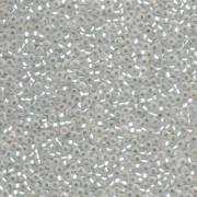 Miyuki Rocailles Beads 2mm 0001F silverlined matt Crystal ca 12gr
