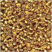 Miyuki Rocailles Beads 4mm 0003 transparent silverlined Gold 20gr