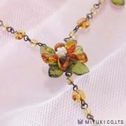 Miyuki Schmuck Bastelset BFK 72 Orange Flower Necklace