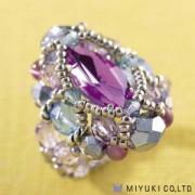Miyuki Schmuck Bastelset B0 89-1 Courtly Ring Amethyst