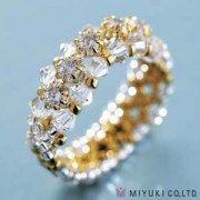 Miyuki Schmuck Bastelset B0 95-2 Cubic Zirconia Line Ring Gold