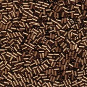 Miyuki Stäbchen Bugle Beads 3mm 2006 matt metallic dark Bronze ca 10gr