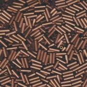 Miyuki Stäbchen Bugle Beads 6mm 2006 matt metallic dark Bronze ca 10gr