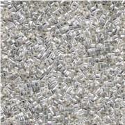 Miyuki Stäbchen Perlen Bugle Beads Hexcut 1,5mm 0001C transparent silverlined Clear 12gr