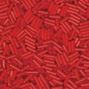 Miyuki Stäbchen Perlen Bugle Beads 6mm 0408 opaque Berry Red 10gr