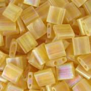 Miyuki Tila Beads 5mm transparent matt irisierend Topaz TL0132FR 7,2gr