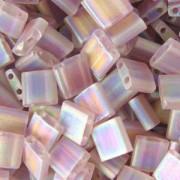 Miyuki Tila Beads 5mm transparent matt irisierend Smoky Amethyst TL0142FR 7,2gr