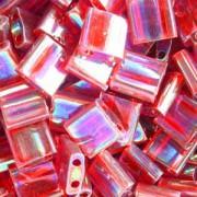 Miyuki Tila Beads 5mm transparent irisierend Red TL0254 7,2gr