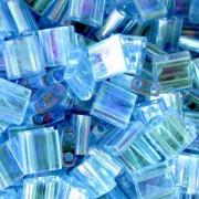 Miyuki Tila Beads 5mm transparent irisierend Aqua TL0260 7,2gr
