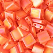 Miyuki Tila Beads 5mm matt opaque rainbow Orange TL0406FR 7,2gr