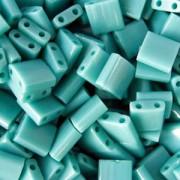 Miyuki Tila Beads 5mm matt opaque rainbow Turquoise Green TL0412FR 7,2gr