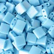 Miyuki Tila Beads 5mm matt opaque rainbow Turquoise TL0413FR 7,2gr