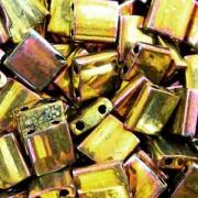 Miyuki Tila Beads 5mm Metallic Gold Irisierend TL0462 7,2gr