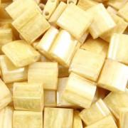 Miyuki Tila Beads 5mm Light Caramel Ceylon TL0593 7,2gr