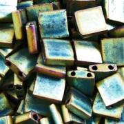 Miyuki Tila Beads 5mm Metallic Green Irisierend Matt TL2008 7,2gr