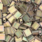 Miyuki Tila Beads 5mm Metallic Rainbow Matte Antique Bronze TL2035 7,2gr