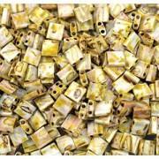 Miyuki Tila Picasso Beads 5mm matt Canary Yellow TL4512 ca 7,2gr