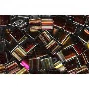 Miyuki Tila Special Plating Beads 5mm transparent Amber Jewel Copper Rose TL4551 ca 7,2gr