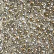 Miyuki Drop Beads 3,4mm 1881 transparent luster Gold Grey 10gr