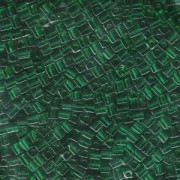 Miyuki Würfel Beads, Cube, Square Beads 3mm 0147 transparent Emerald ca 25gr